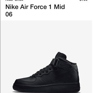 Black Air Force 1 Youth 6Y